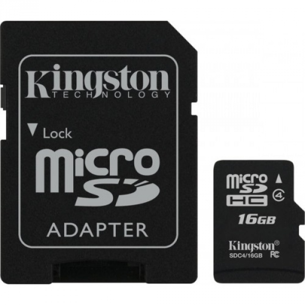KINGSTON MicroSD HC Class4 + SD Adapter